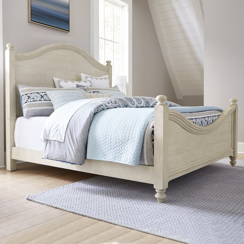 Rustic Antique White King Size Bed Catawba White King Size Bed