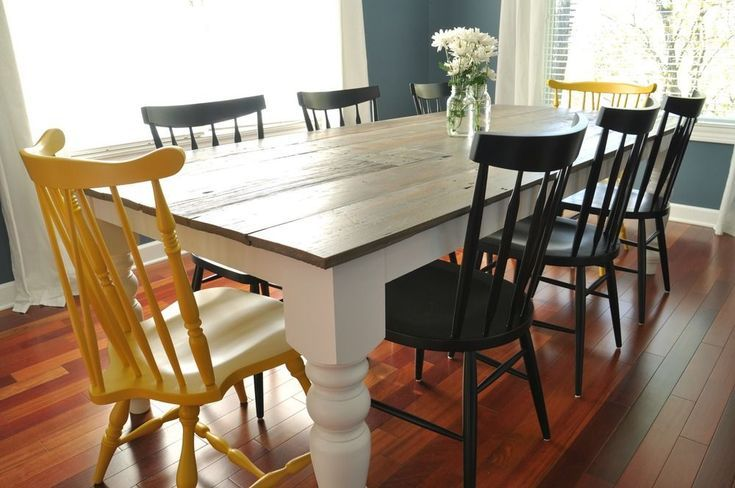 13 free farmhouse table plans for the beginner how to s diy rh pinterest com