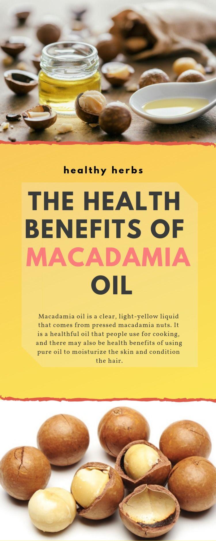 The Health Benefits Of Macadamia Oil Macadamia Oil Macadamia Healthy Herbs