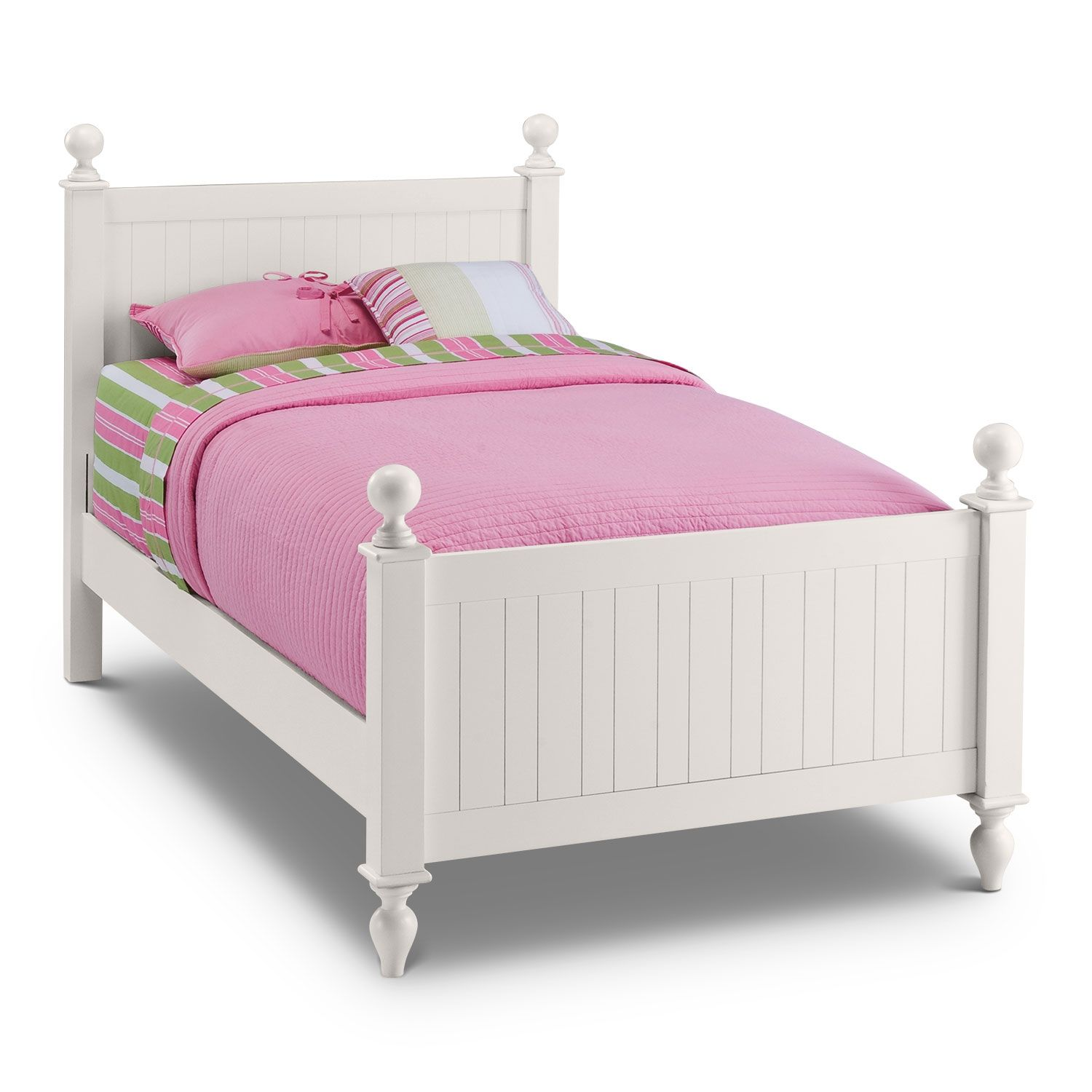 Colorworks Poster Bed White Kids Furniture White Bedding Twin