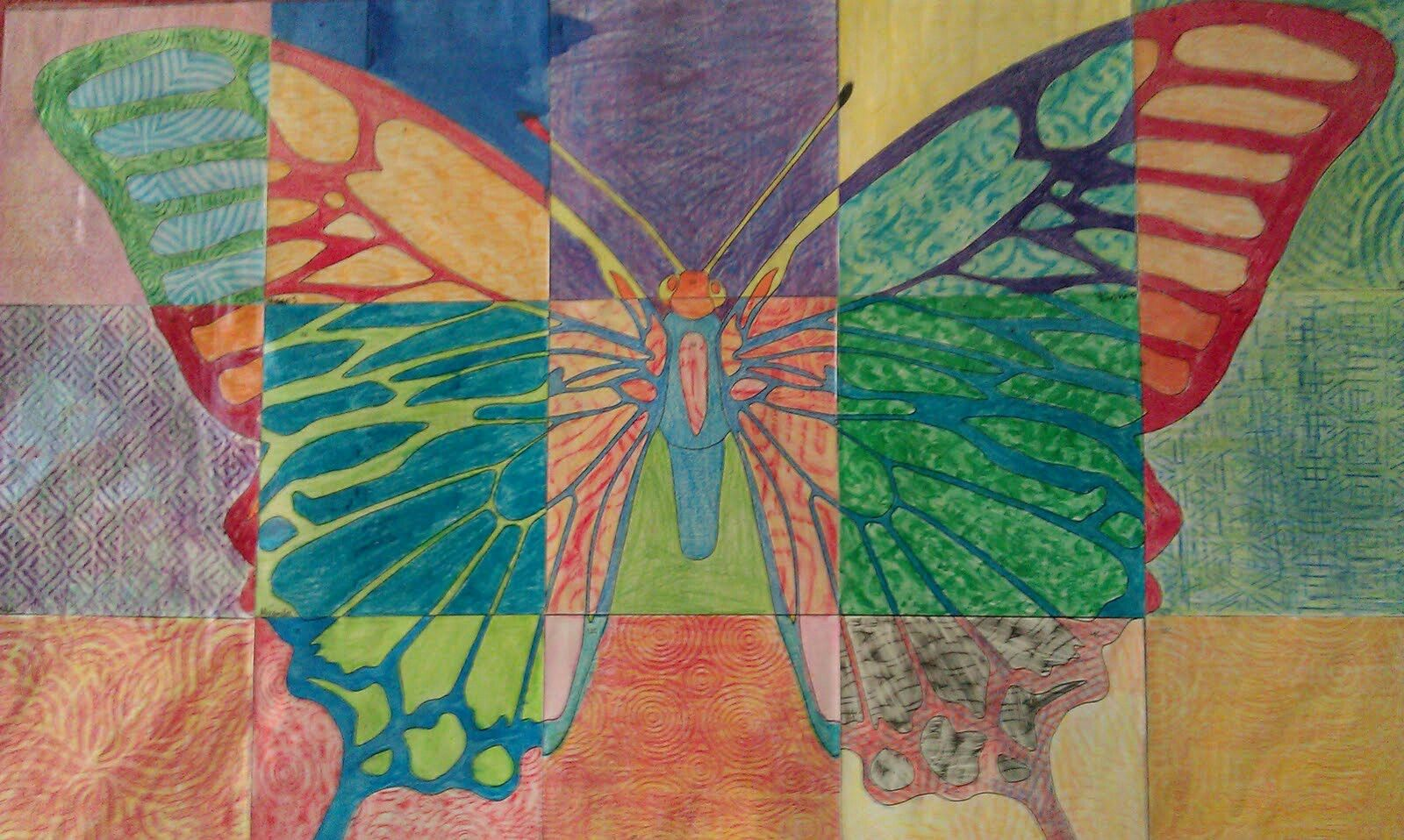 Butterfly mural art
