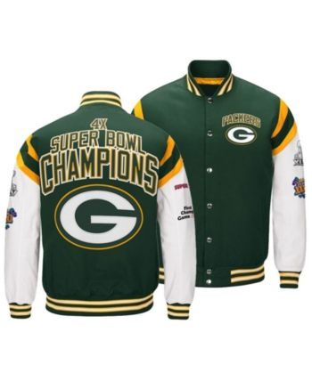 Authentic Nfl Apparel Men's Green Bay Packers Home Team Varsity  for sale