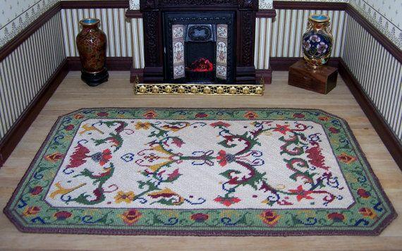Dollhouse Miniature  Russet Stair Carpet