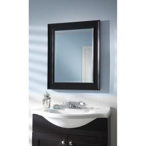 martha stewart living grasmere 30 in x 24 in black framed mirror rh pinterest com
