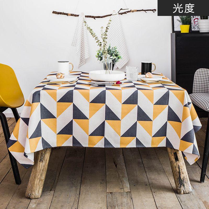 Home tablecloth cloth linen tablecloth mats table