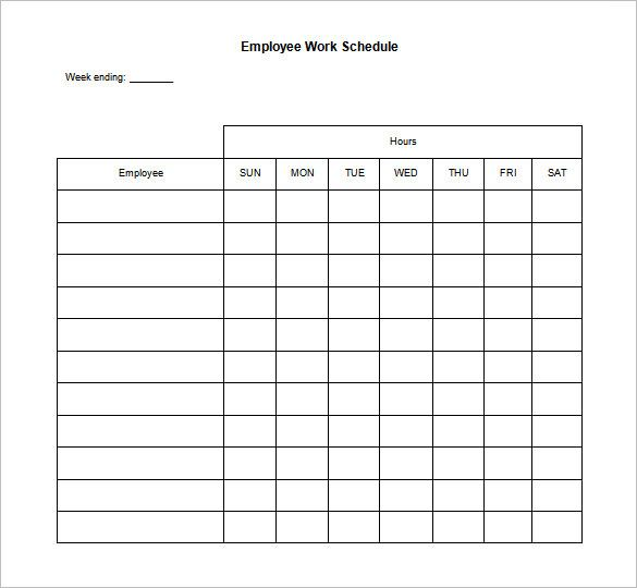 daily work schedule template 12 free word excel pdf format