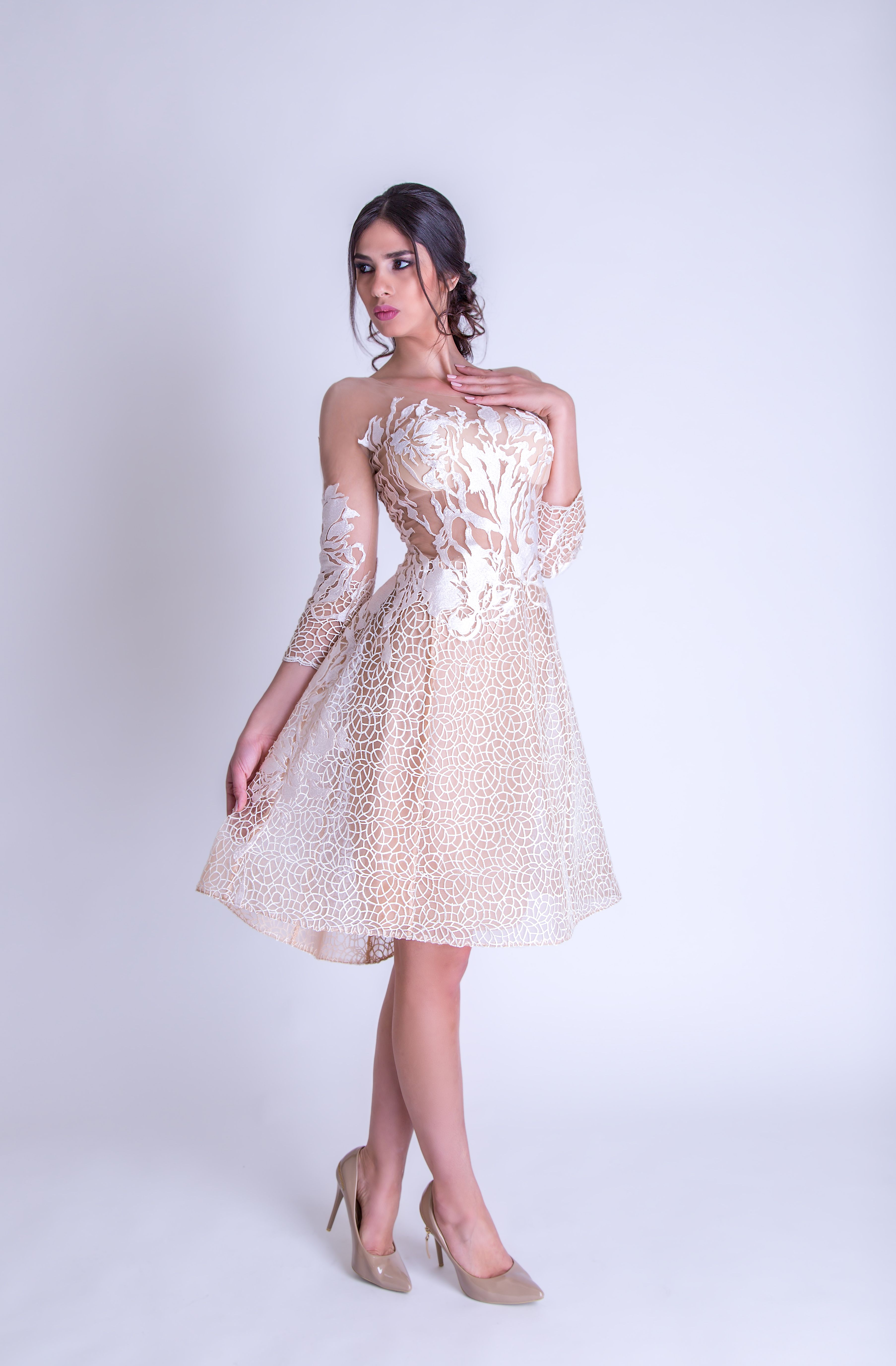 Offwhite short evening dress ss2017 evening dresses