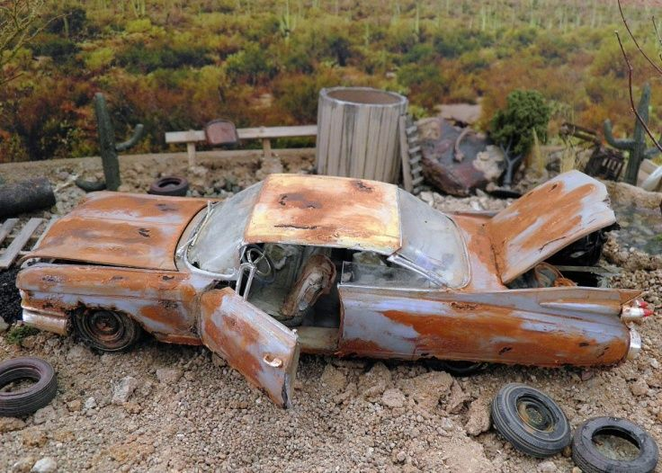 Rusted Cadillac In The Weeds Model Cars Kits Plastic Model Cars