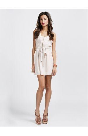 cute informal white dress