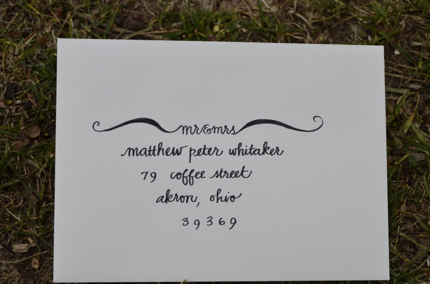 Handlebar Handwritten Calligraphy for Wedding or Party