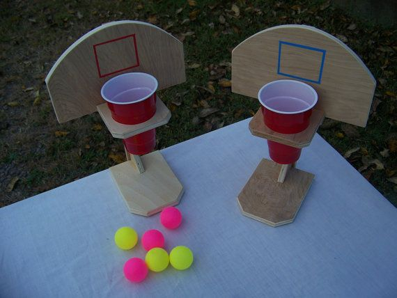 beer pong basketball handmade table top game drinko wooden game rh pinterest com
