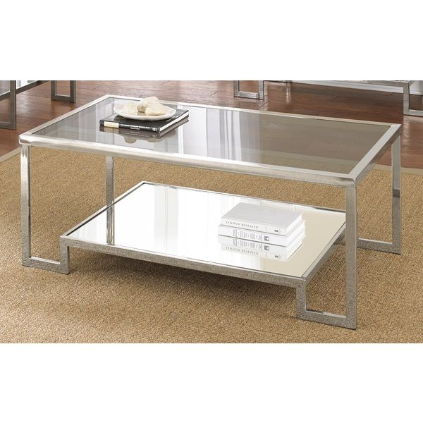 Use This Chrome Coffee Table To Offer Guests A Place To Rest Their Glasses  While Relaxing In Your Living Room.