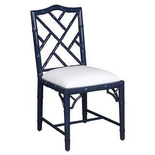 selamat designs chippendale style navy lacquer side chair manning rh pinterest com