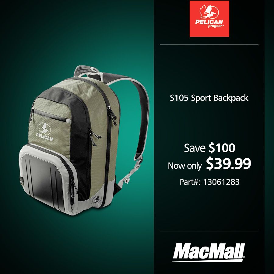 Backtoschool Sale Save 100 On A Pelican Pro Gear S105 Sport Backpack At Macmall Backpack Sport Carrying Cases Laptop Backpack