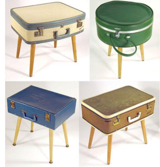 Comment utiliser de mani re originale les valises vintage - Comment utiliser les couverts a table ...