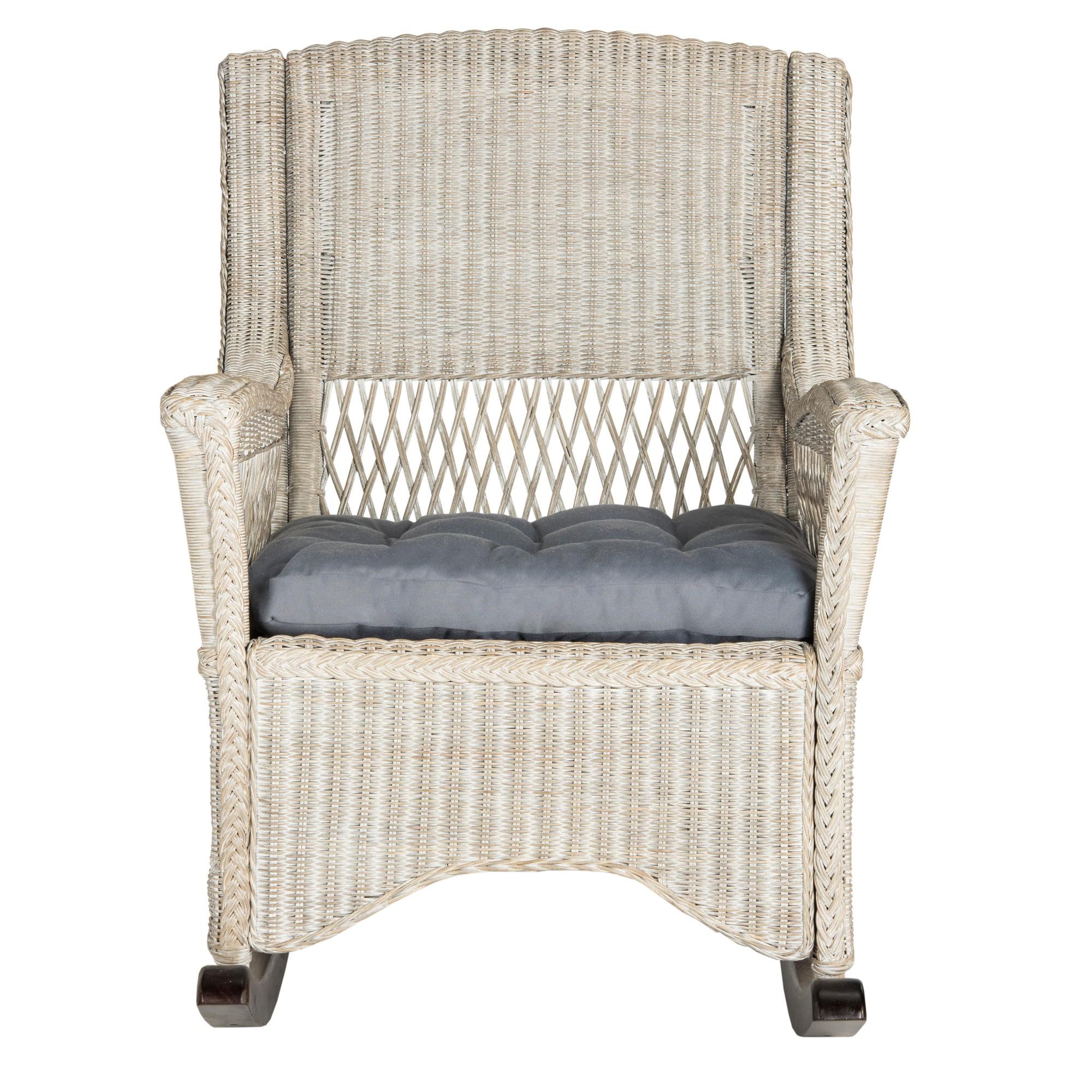 Aria Rocking Chair Antique Gray Safavieh , Adult