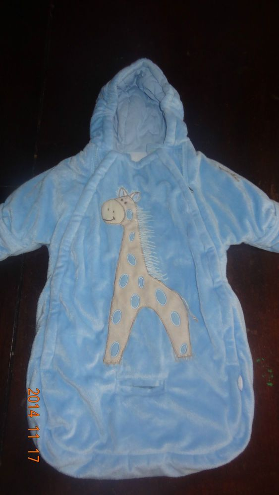 Baby Boy Snowsuit Bag With The Slit For The Car Seat