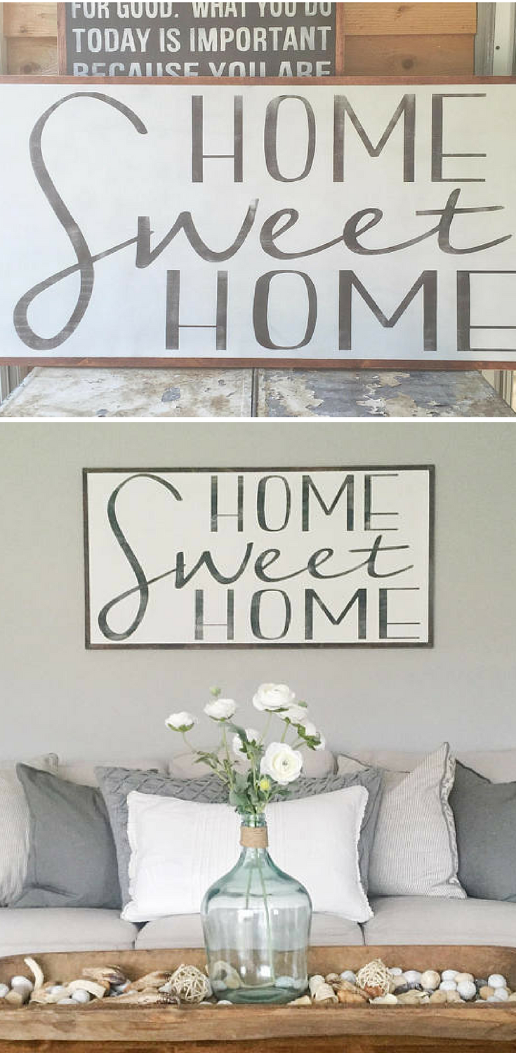 Home Sweet Home sign Home Wood Sign Extra large Wood