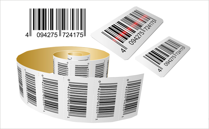 Barcode Labels Printed On Paper Stock And On Clear Vinyl Barcode Labels Printing Labels Thermal Transfer Printing
