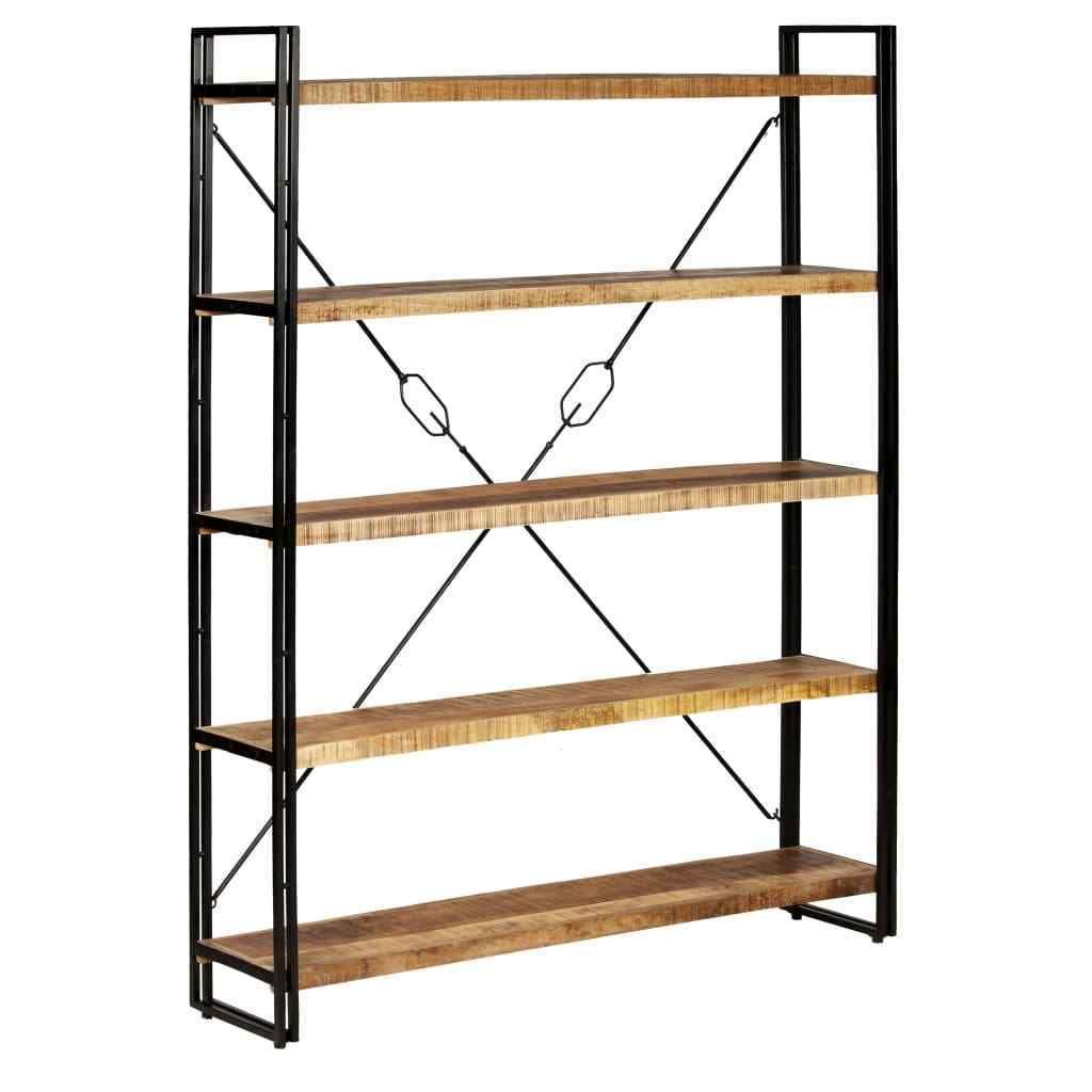 h4home industrial tall bookcase solid mango wood large in 2019 diy rh pinterest com