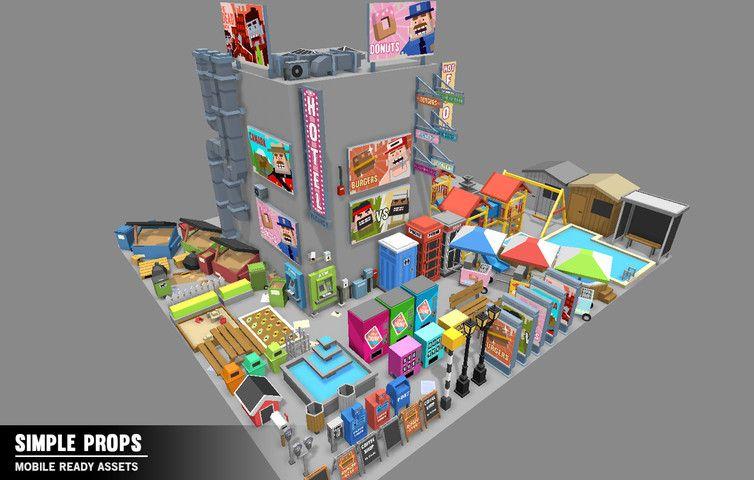 Simple Props Cartoon Assets 3d Props Simple Asset Store