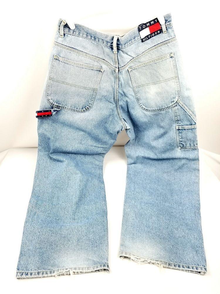 bf679fc7c Vintage 90's Tommy Hilfiger Carpenter Spellout Denim Jeans Men's Tag Sz  33×32 #TommyHilfigerTommyJeans #CasualHipHop90sApparel