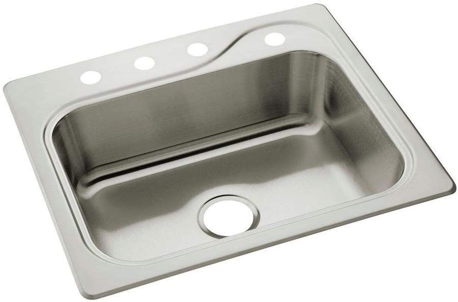 Sterling 11403 4 Na Southhaven 25 Inch By 22 Inch Top Mount Single Bowl Kitchen Sink Stainless Steel Single Bowl Kitchen Sink Stainless Steel Kitchen Sink Sink