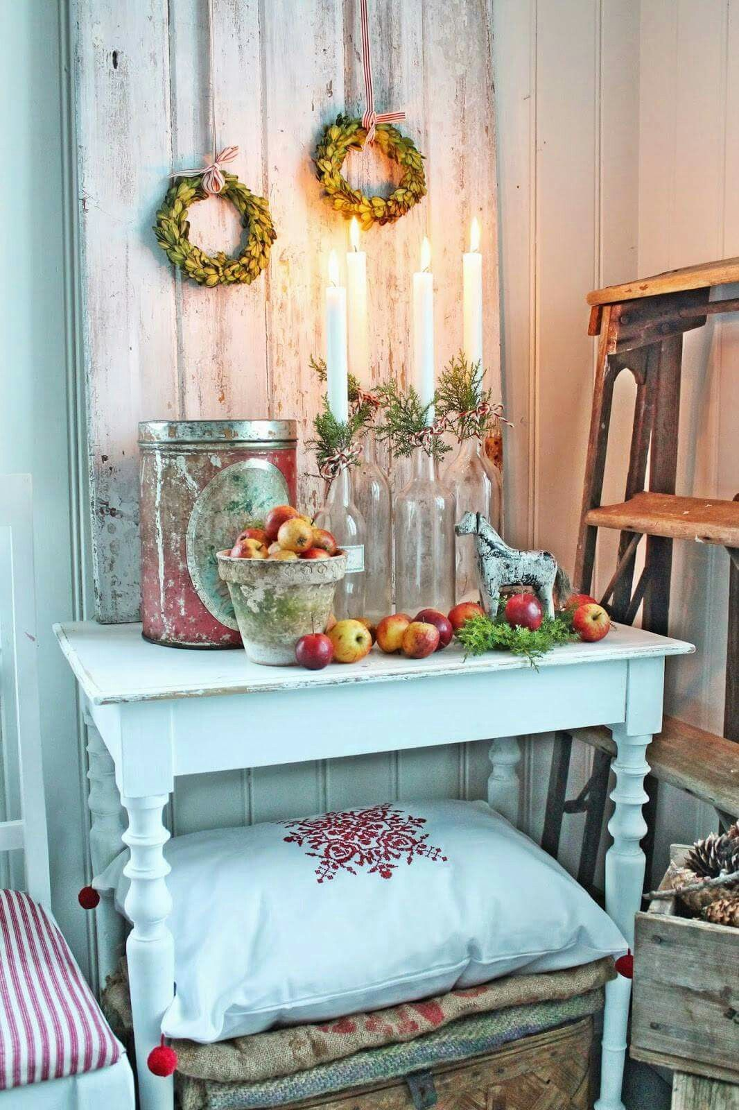 Country Chic Cottage Cottage Style Christmas Candles