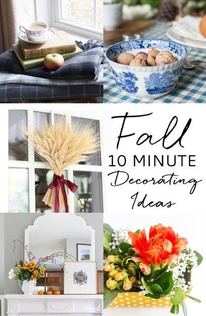 Easy 10 Minute Fall Decorating Idea