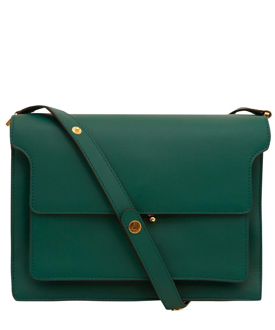 Marni Large Green Trunk Leather Bag Designer Bags Liberty Co Uk