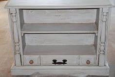 Console TV repurposed as a bookshelf