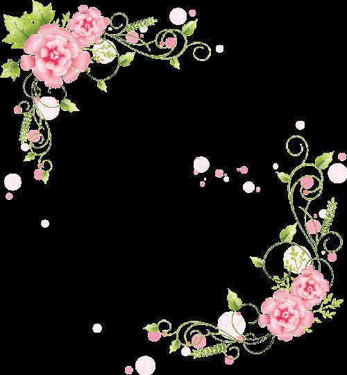 цветы Bordes Y Marcos Marco Rosa Y Flores Retro