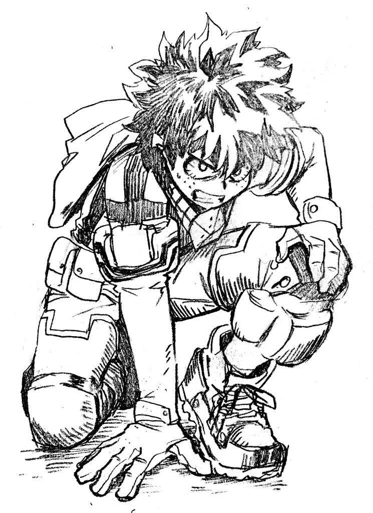 Midoriya izuku sketches hero my hero academia manga