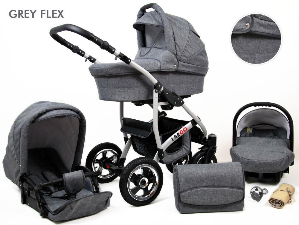 Klasicna Siva Boja Grey Flex With Images Baby Strollers Baby Lux Stroller