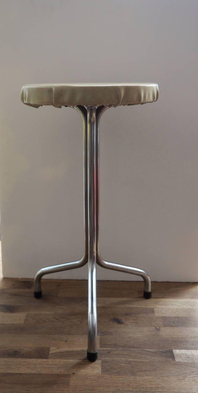 a vintage metal and vinyl stool industrial stool shabby chic rh pinterest ca