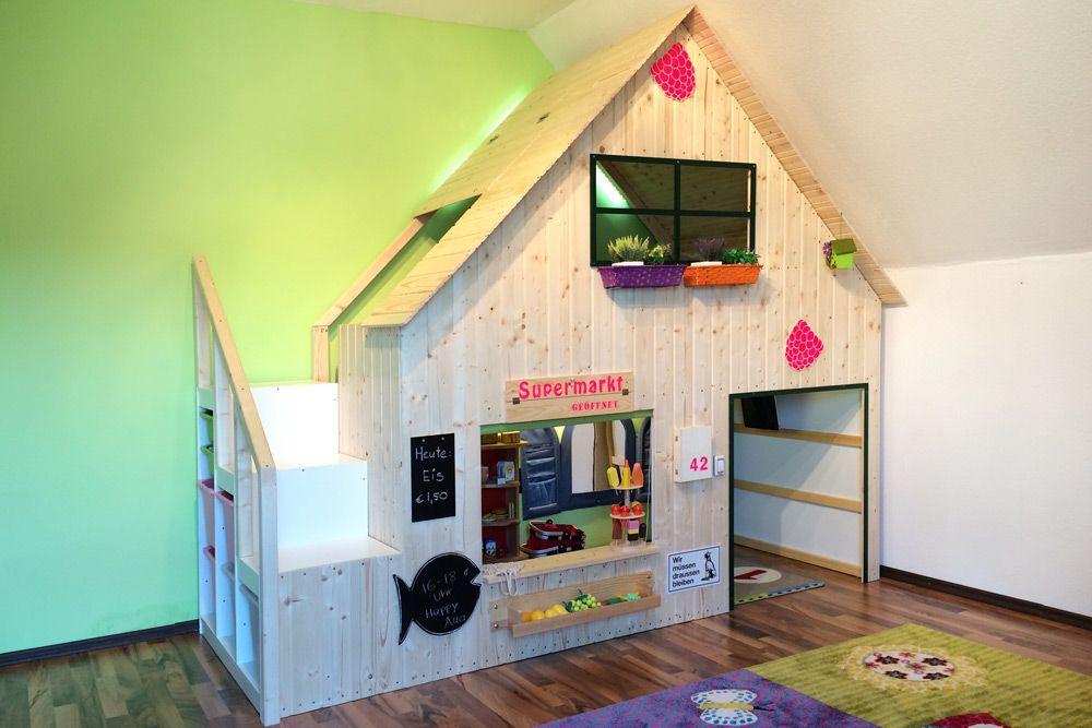 f r meine t chter habe ich ein einfaches hochbett aus dem m belladen zu einem do it yourself. Black Bedroom Furniture Sets. Home Design Ideas