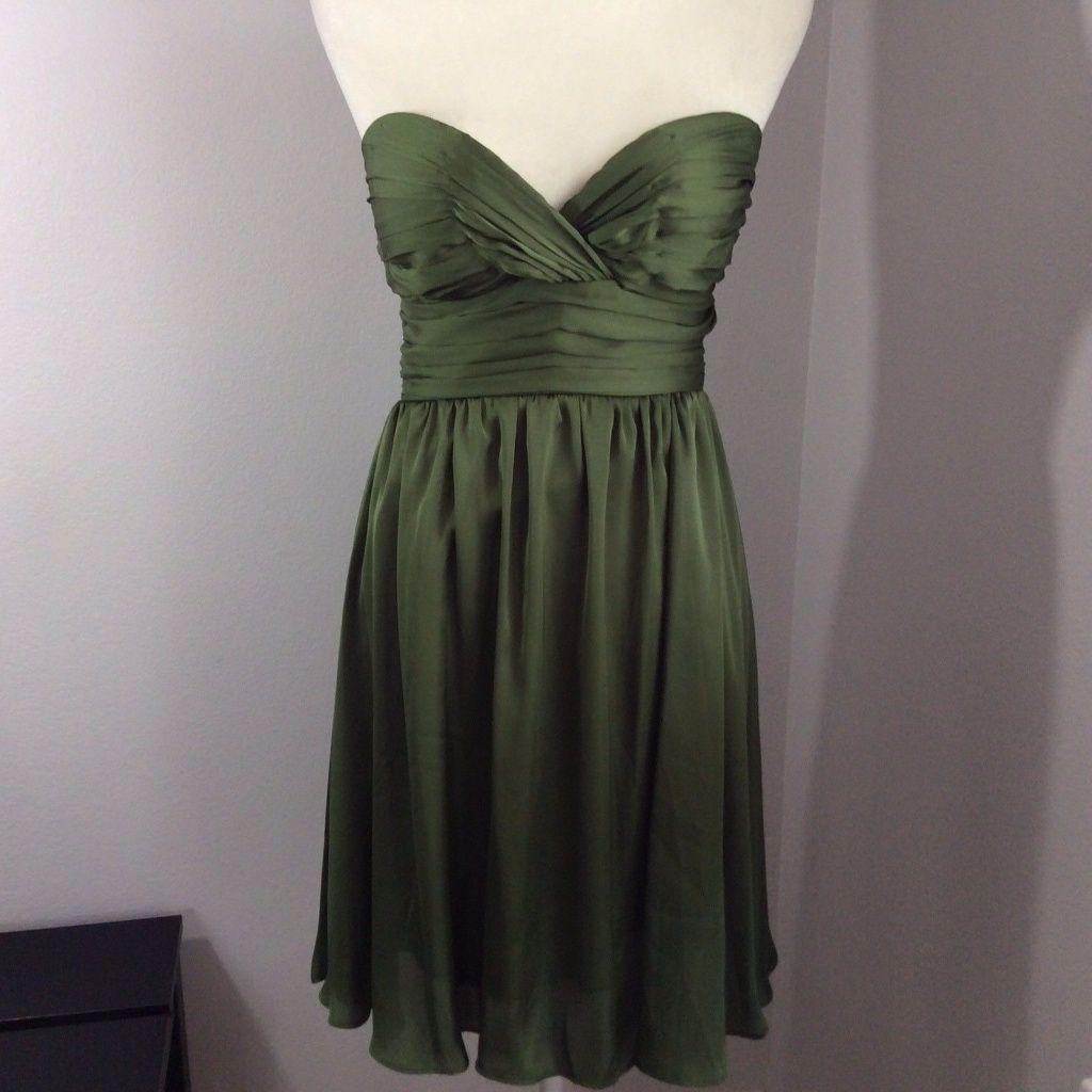 New olive green sweet heart satin prom dress sweet hearts prom