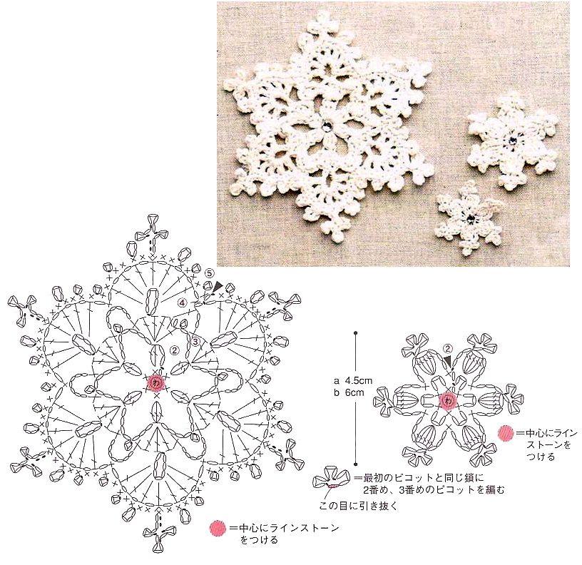 Esquemas de copos de nieve | SexyCrochet.COM | patrones crochet ...
