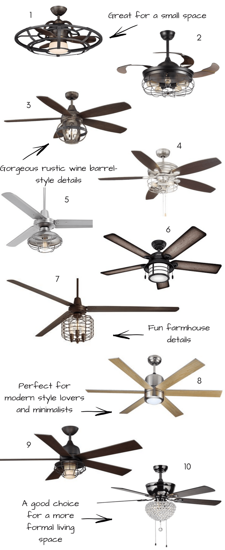 10 affordable stylish indoor ceiling fans with lights kay rh pinterest com