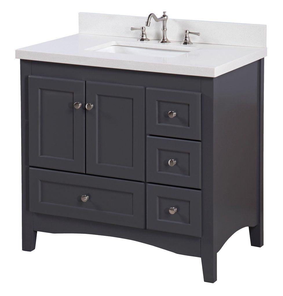 abbey 36 inch vanity quartz charcoal gray in 2019 bathrooms rh pinterest com