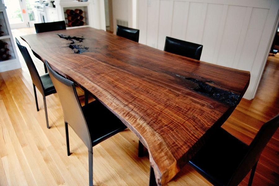Live Edge Modern Walnut Dining Table Slab Dining Tables Dining