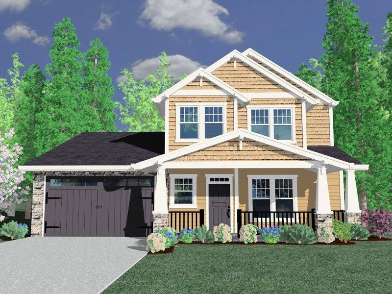 4 Bed Master Down Crafsman Home Plan