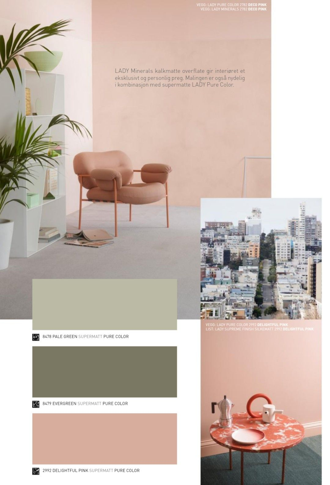 jotun pale green evergreen deco pink home color palette home rh pinterest com