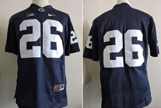 ... Mens Penn State Nittany Lions 26 Saquon Barkley No Name Black College  Football Stitched Nike . 1123977aa