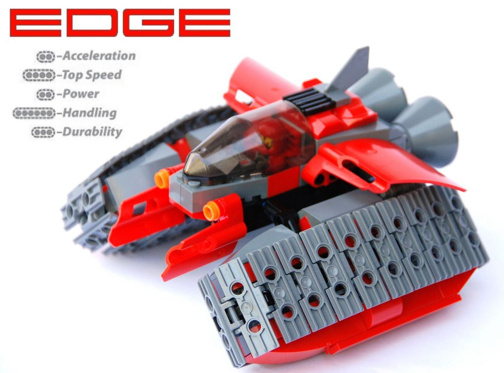 https://flic.kr/p/5LpHZy | Edge | The Edge Track racer utilizes dynamic new technology that has had an extremely surprising effect: running your tracks only on their edges increases handling  by a massive amount by reducing drag in turns. Already proving itself in the qualifyer, Edge will have a significant impact in the world of IATTAR.