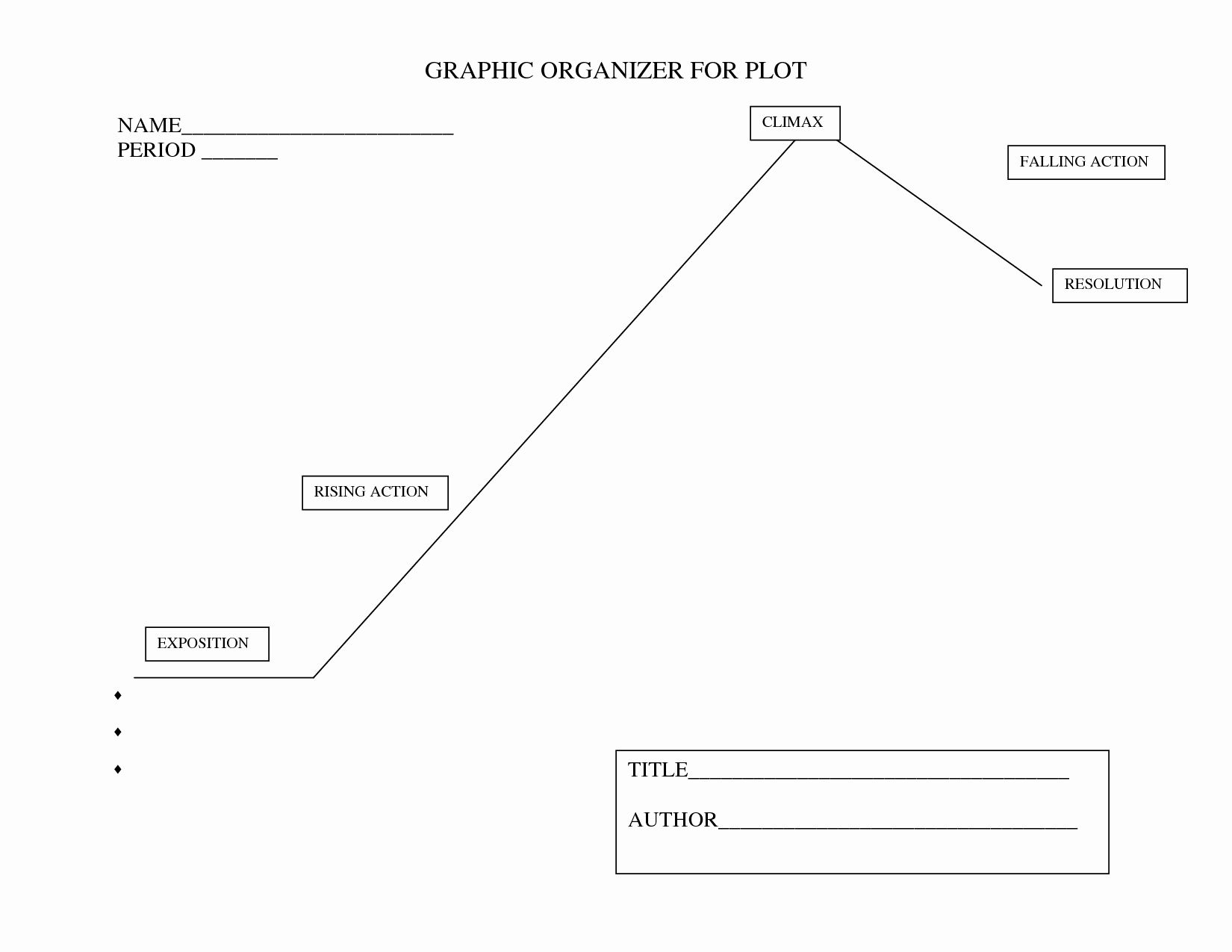 30 Plot Diagram Graphic Organizer In