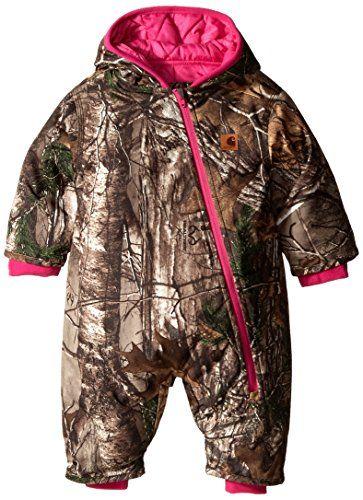9f5e138f9ea1 Carhartt Baby Girls Camo Snowsuit QULT Taff Lined Dark Brown 6 ...