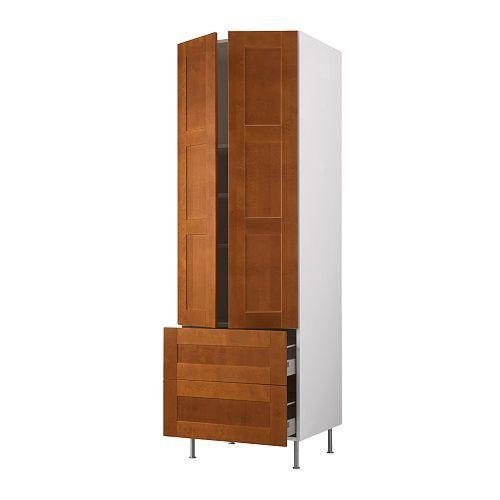 akurum high cabinet w shelves 2 drawers birch effect del medium rh pinterest com
