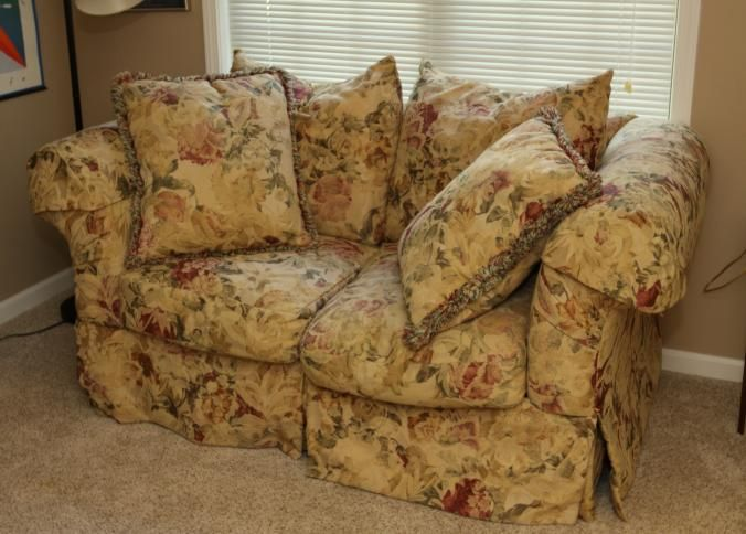 rowe furniture oversized floral upholstered loveseat with matching rh pinterest com