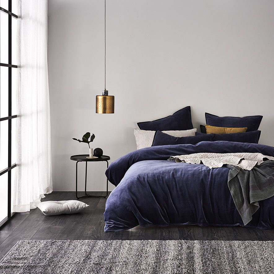 Bedrooms The sophisticated Cotton Velvet quilt cover